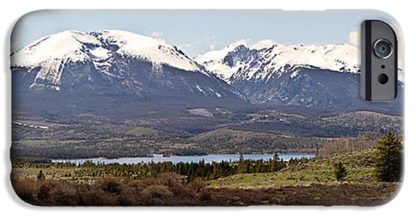 Snow iPhone Cases - Buffalo Mountain and Red Peak Pano iPhone Case by Scott Pellegrin