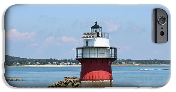 New England Lighthouse iPhone Cases - Bug Light Plymouth Ma iPhone Case by Linda  Jackson