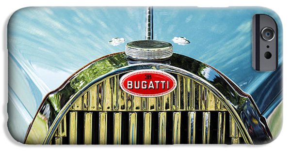 Bugatti Vintage Car iPhone Cases - Bugatti  iPhone Case by Tim Gainey