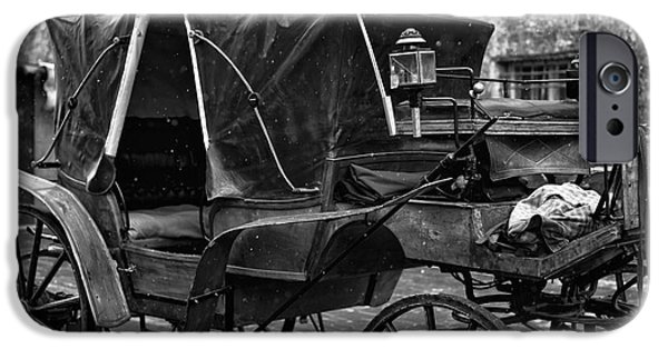 Horse And Buggy iPhone Cases - Buggy in Salzburg iPhone Case by John Rizzuto