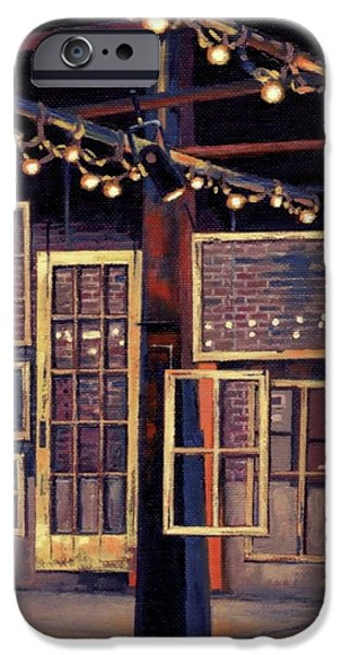 Historic Site Paintings iPhone Cases - Building 8 at the Factory iPhone Case by Janet King