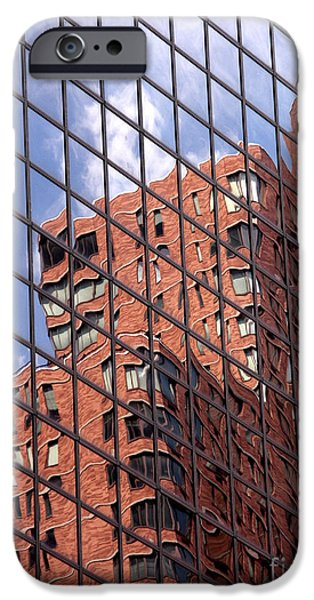 Decor iPhone Cases - Building reflection iPhone Case by Tony Cordoza