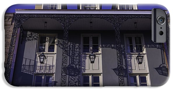 Building iPhone Cases - Building Shadows french Quarter iPhone Case by Garry Gay