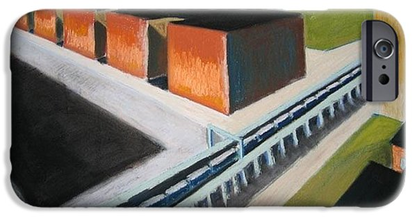 Tracks Pastels iPhone Cases - Buildings of central queens iPhone Case by Craig Barrack
