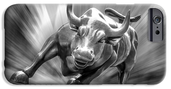 Of Power iPhone Cases - Bull Market iPhone Case by Az Jackson