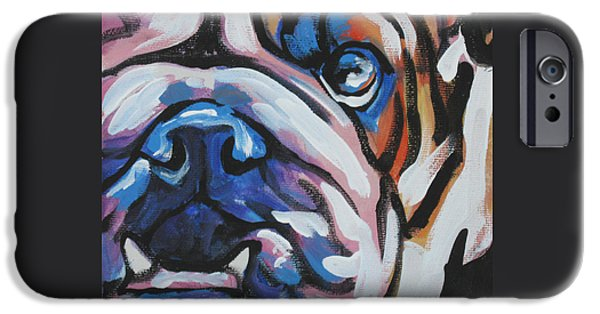 Recently Sold -  - Puppies iPhone Cases - Bulldog Baby iPhone Case by Lea