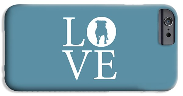 Owner Digital iPhone Cases - Bulldog Love iPhone Case by Nancy Ingersoll