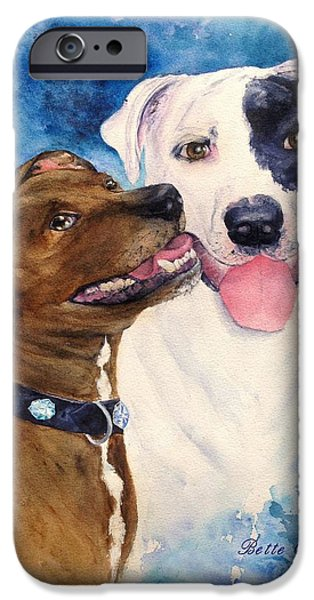 Dogs iPhone Cases - Bullie Buds iPhone Case by Bette Orr
