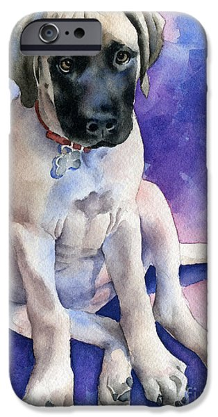 Puppies iPhone Cases - Bullmastiff Puppy iPhone Case by David Rogers