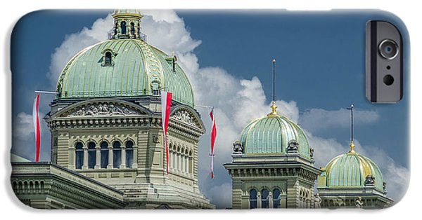 Michelle iPhone Cases - Bundeshaus the Federal Palace iPhone Case by Michelle Meenawong