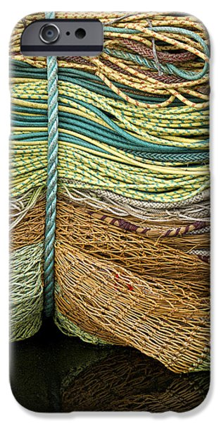 Oregon Coast iPhone Cases - Bundle of Fishing Nets and Ropes iPhone Case by Carol Leigh