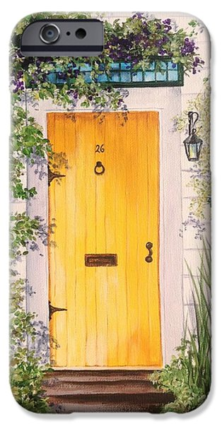 Garden Scene Paintings iPhone Cases - Bungalow 26 iPhone Case by Cheri Miller