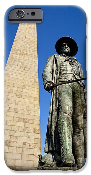 Prescott iPhone Cases - Bunker Hill Memorial iPhone Case by Brian Jannsen
