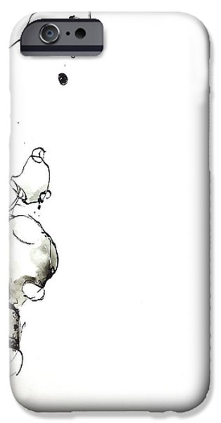 Abnormal Drawings iPhone Cases - Bunny On Shrooms iPhone Case by Nick Watts