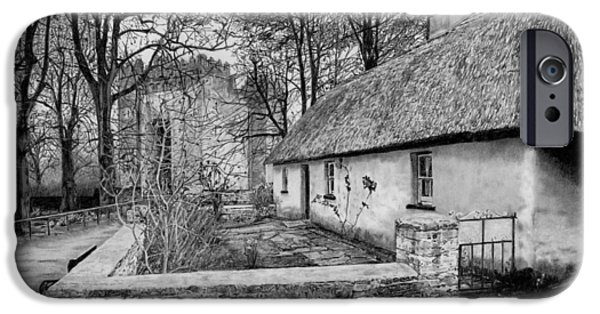 Building iPhone Cases - Bunratty Castle and cottage Clare Ireland iPhone Case by Dave Irving