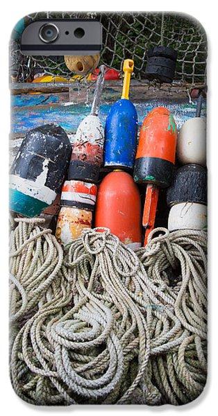 Cape Neddick Lighthouse iPhone Cases - Buoys 2 iPhone Case by Emmanuel Panagiotakis