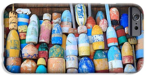 Cape Neddick Lighthouse iPhone Cases - Buoys iPhone Case by Emmanuel Panagiotakis