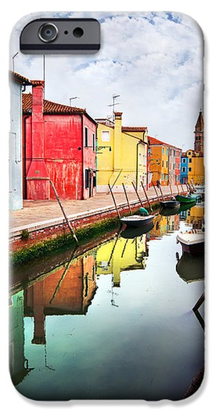 Historic Home iPhone Cases - Burano iPhone Case by Ivan Vukelic