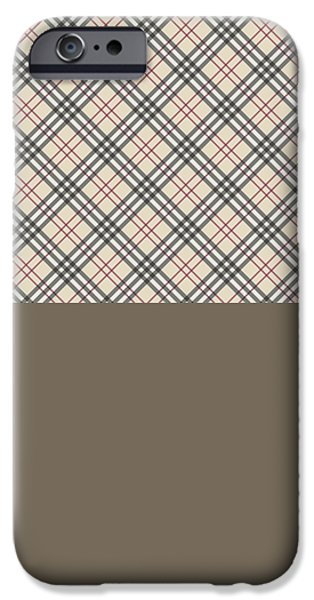 Fabric Tapestries - Textiles iPhone Cases - Burberry texture iPhone Case by Taylan Soyturk