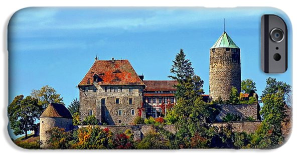 Buildings iPhone Cases - Burg Colmberg iPhone Case by Anthony Dezenzio