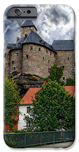 Buildings iPhone Cases - Burg Falkenberg iPhone Case by Anthony Dezenzio