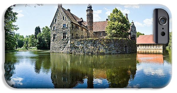 Picturesque iPhone Cases - Burg Vischering iPhone Case by Dave Bowman