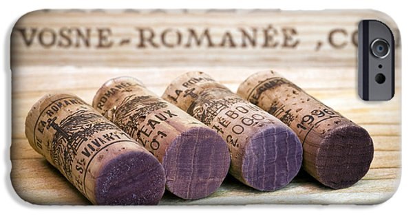 Cellar iPhone Cases - Burgundy Wine Corks iPhone Case by Frank Tschakert