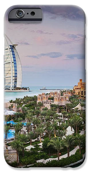 Burj al Arab Hotel and Madinat Jumeirah Resort iPhone Case by Jeremy Woodhouse