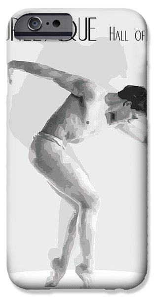 Abstract Digital Art Drawings iPhone Cases - Burlesque By Quim Abella iPhone Case by Joaquin Abella