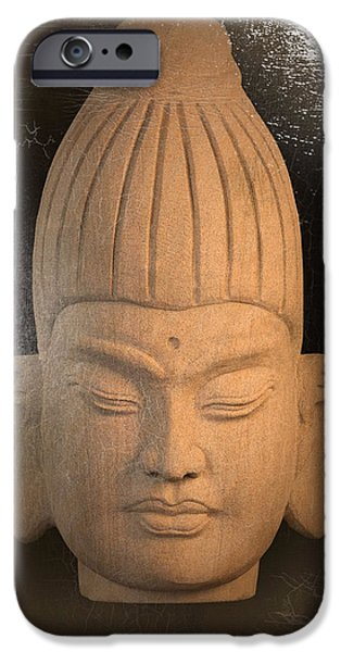 Buddhist Sculptures iPhone Cases - Burmese antique oil iPhone Case by Terrell Kaucher