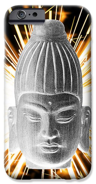 Buddhist iPhone Cases - Burmese Enlightenment  iPhone Case by Terrell Kaucher