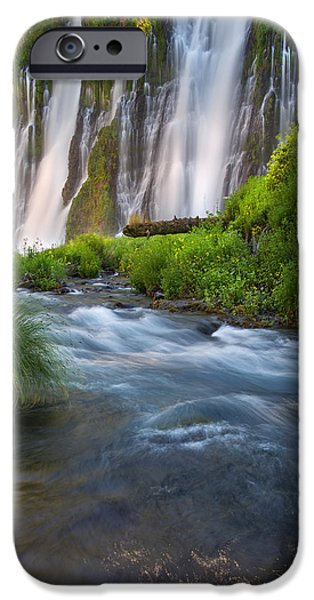 Forest iPhone Cases - Burney Falls iPhone Case by Leland D Howard