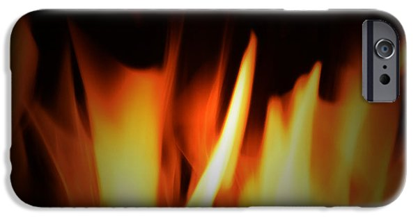 Abstract Digital Art iPhone Cases - Burning Bright iPhone Case by Richard Andrews