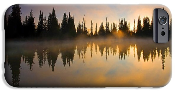 Mist iPhone Cases - Burning Dawn iPhone Case by Mike  Dawson