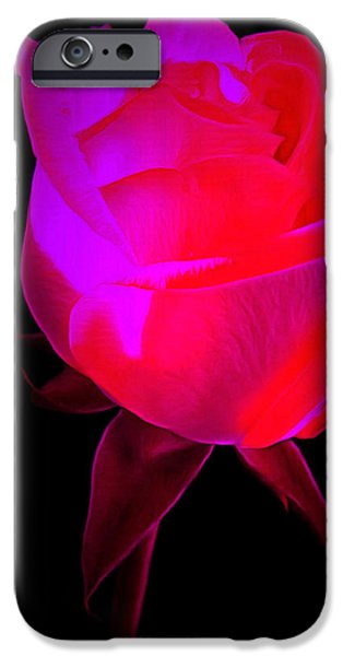 Floral Photographs iPhone Cases - Burning Love iPhone Case by Krissy Katsimbras