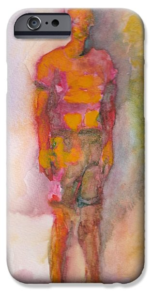 Watercolor iPhone Cases - Burning Man iPhone Case by Melvin Nesbitt Jr
