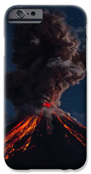 Fury iPhone Cases - Burp of Ash iPhone Case by Osiris Ocampo