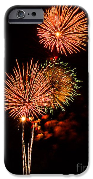 4th Of July iPhone Cases - Bursting Bouquet  iPhone Case by Kathy Liebrum Bailey