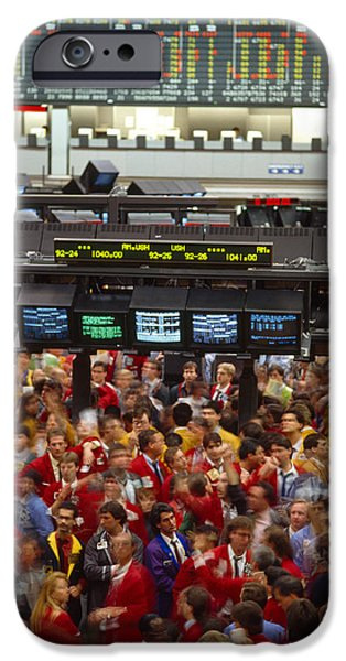 Finance iPhone Cases - Business Executives On Trading Floor iPhone Case by Panoramic Images