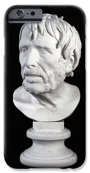 Bust Sculptures iPhone Cases - Bust of Pseudo-Seneca iPhone Case by Andrea Felice