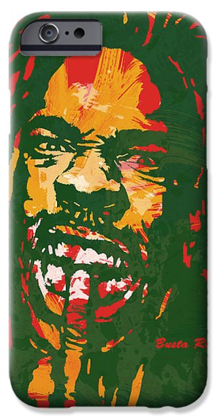 American ist Mixed Media iPhone Cases - Busta Rhymes Pop Stylised Art Poster iPhone Case by Kim Wang