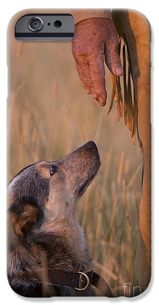 Chaps iPhone Cases - Buster and Dawg iPhone Case by Carol Walker