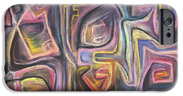 Abstract Expressionist Pastels iPhone Cases - But I Want to be a Rainbow iPhone Case by Tom Kecskemeti