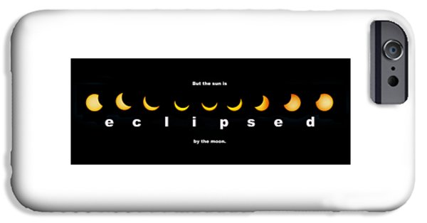 Solar Eclipse Digital iPhone Cases - But the Sun is Eclipsed by the Moon iPhone Case by Mal Bray