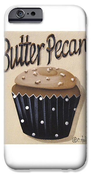 Butter Pecan Cupcake iPhone Case by Catherine Holman