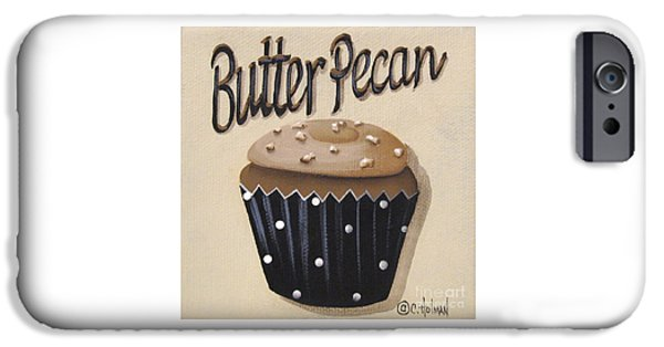 Catherine iPhone Cases - Butter Pecan Cupcake iPhone Case by Catherine Holman