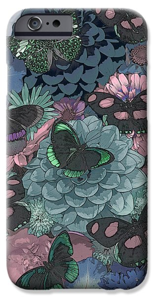 Butterfly Paintings iPhone Cases - Butterflies iPhone Case by JQ Licensing