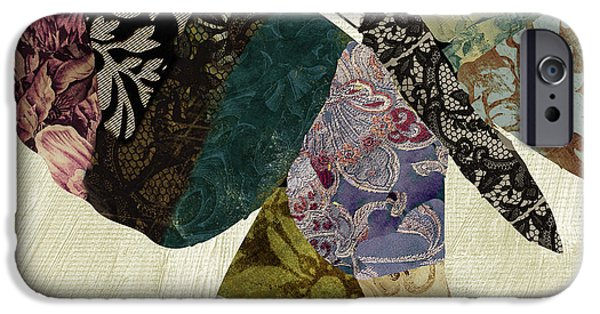 Butterfly Paintings iPhone Cases - Butterfly Brocade I iPhone Case by Mindy Sommers