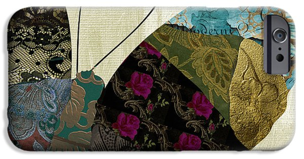 Butterfly Paintings iPhone Cases - Butterfly Brocade II iPhone Case by Mindy Sommers
