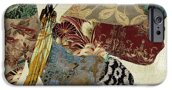 Butterfly Paintings iPhone Cases - Butterfly Brocade IV iPhone Case by Mindy Sommers